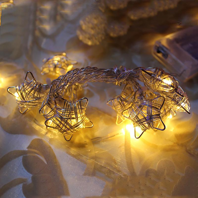 {} Гирлянда светящаяся Домашняя Звезды Цвет: Желтый (90 см) гирлянда электрическая led звезды на батарейках 90 см 10 ламп