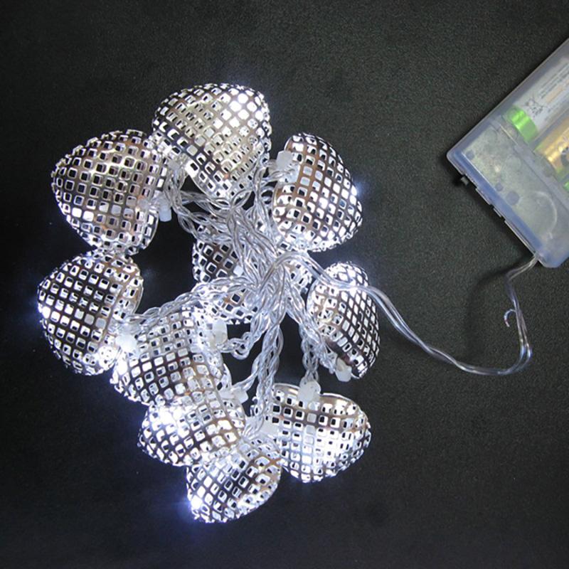 {}  Гирлянда светящаяся Домашняя Сердечки Цвет: Белый (100 см) гирлянда star trading ab сердечки 1 9m white 726 10