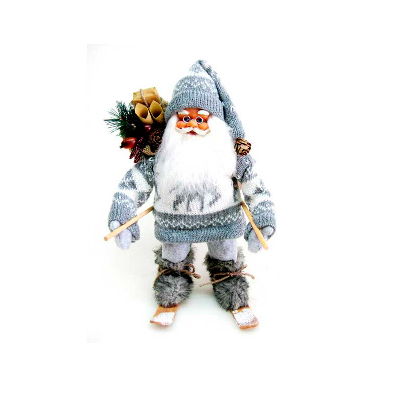 {}  Фигурка под елку Дед Мороз на Лыжах (30 см)