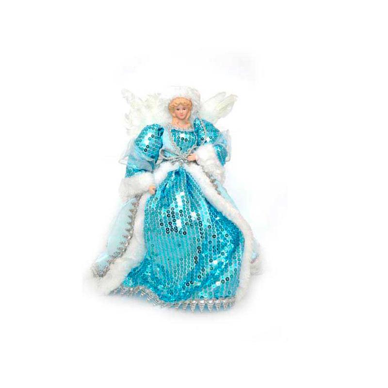 {}  Фигурка под елку Ангел Цвет: Голубой (31 см)