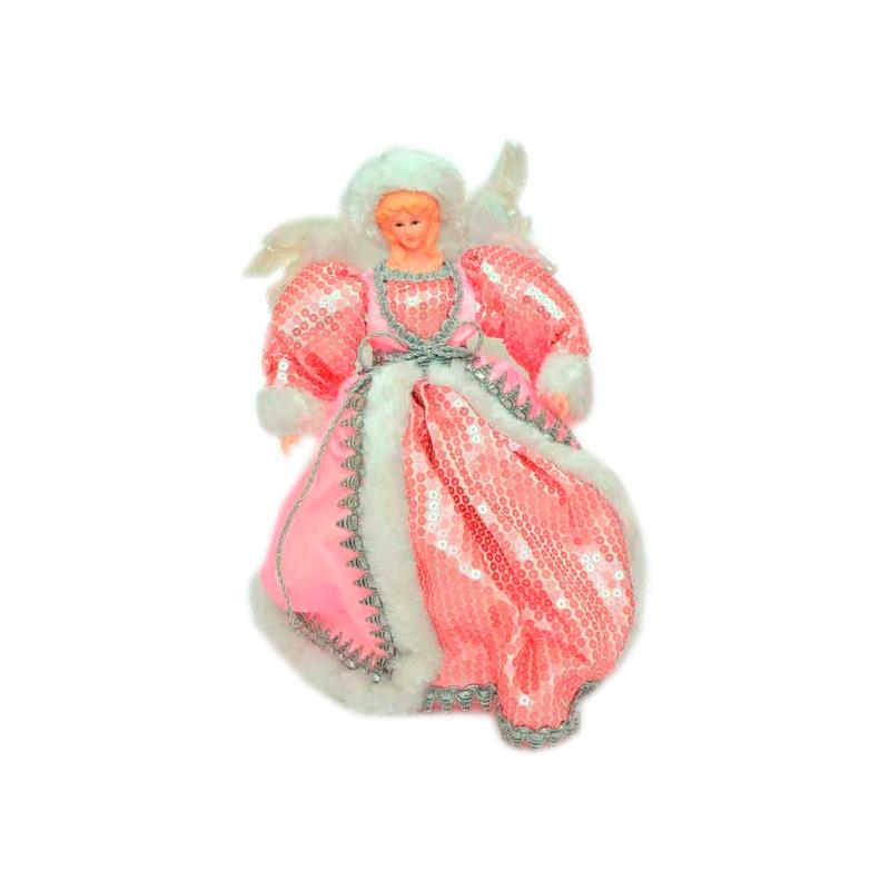 {}  Фигурка под елку Ангел Цвет: Розовый (31 см)