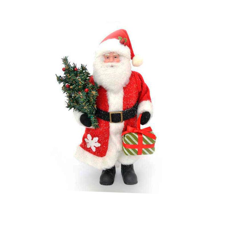 {}  Фигурка под елку Дед Мороз с Елкой и Подарком (30 см) homephilosophy фигурка с крючком дед мороз снеговик ma 189