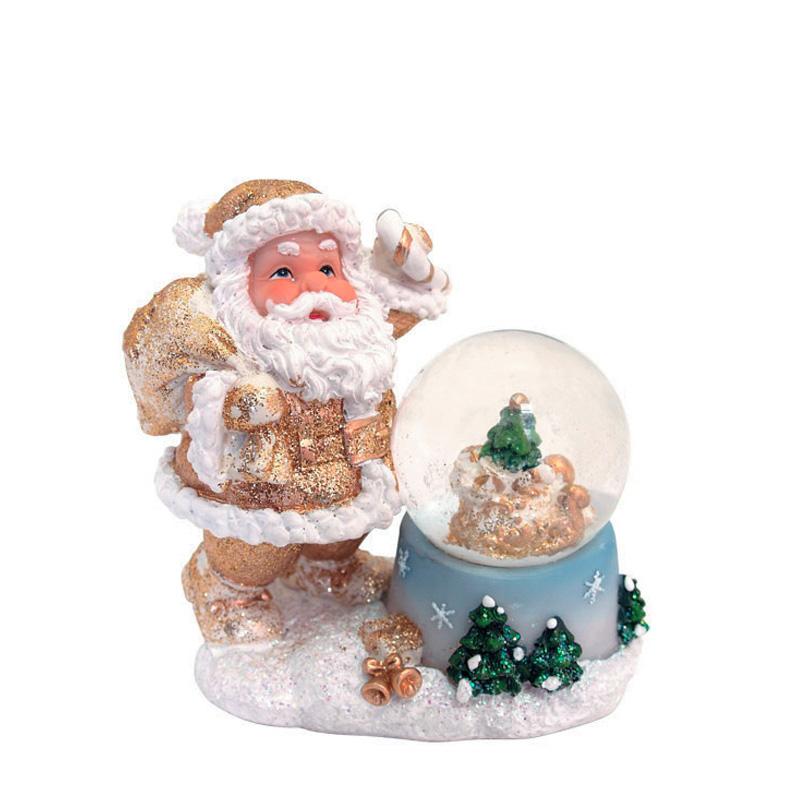 {}  Водяной шар Дед Мороз с Елочкой (10 см) фигурки sweet home ёлочное украшение дед мороз