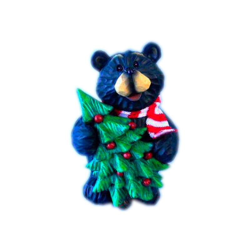{}  Фигурка Мишка с Елкой (12 см) декоративная фигурка мишка именинник высота 13 см 29373