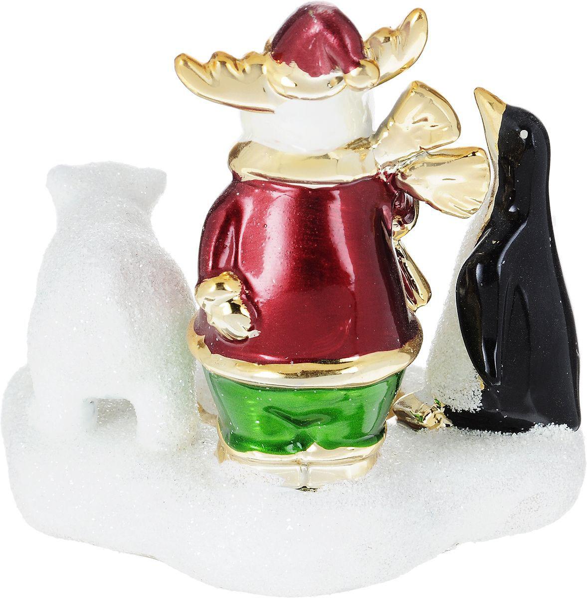 {}  Подсвечник Лось, Пингвин и Мишка (13 см) подсвечник лось пингвин и мишка 13 см