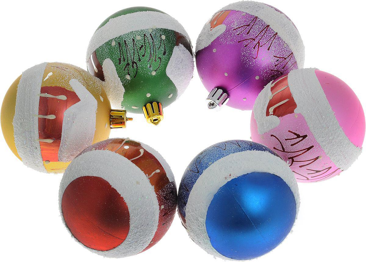 {} Набор шаров Новый Год (7 см - 6 шт) набор шаров 6 см monte christmas набор шаров 6 см