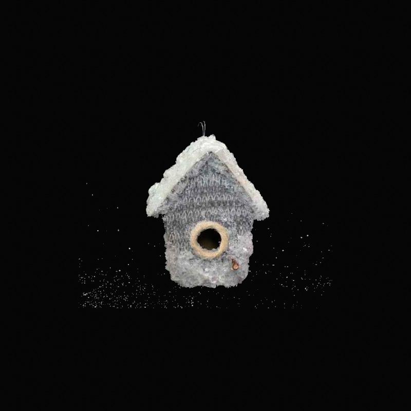 {}  Подвеска декоративная Домик (10х13 см) декоративная фигурка мишка именинник высота 13 см 29373