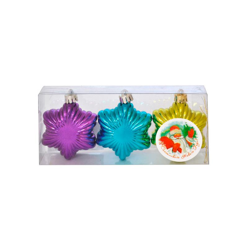 {} Набор шаров Снежинки (6 см - 3 шт) набор шаров 6 см monte christmas набор шаров 6 см