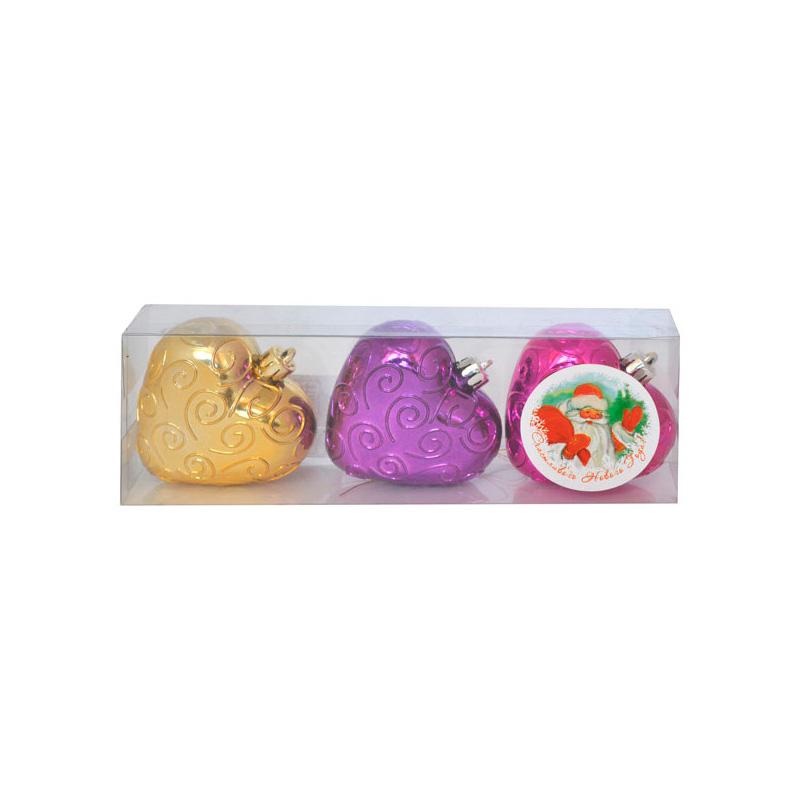 {} Набор шаров Сердечки (6 см - 3 шт) набор шаров 6 см monte christmas набор шаров 6 см