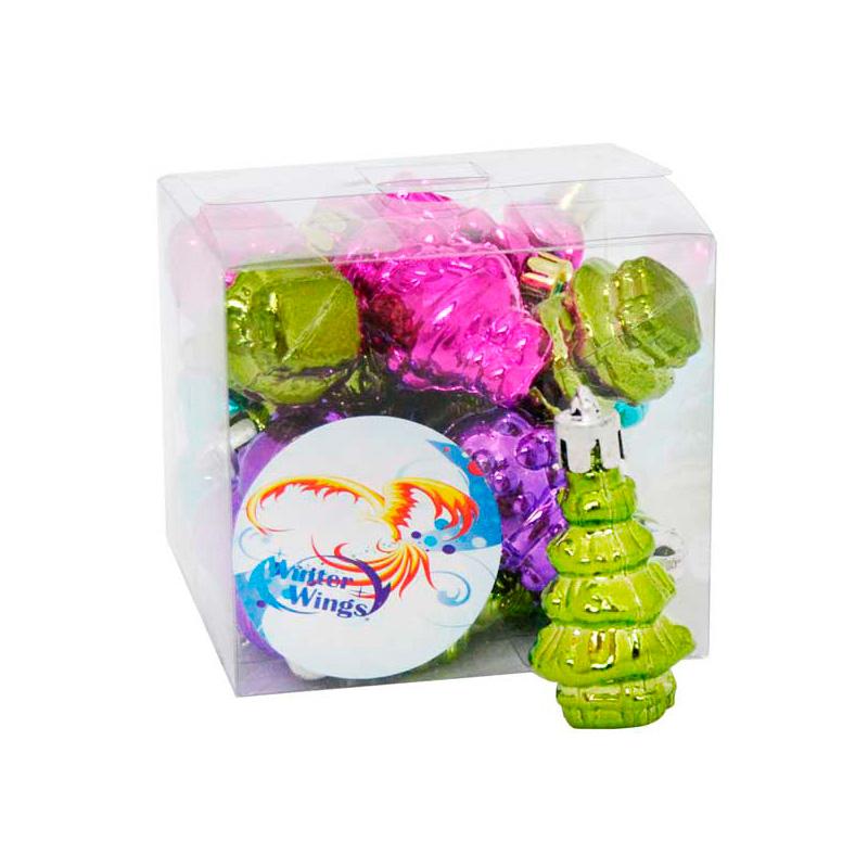 {}  Набор шаров Новый Год (5 см - 20 шт) набор шаров 60мм 9шт пластик в тубе золото