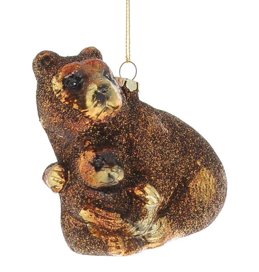 {}  Шар Медведь (9 см) украшение для интерьера сверкающий шар