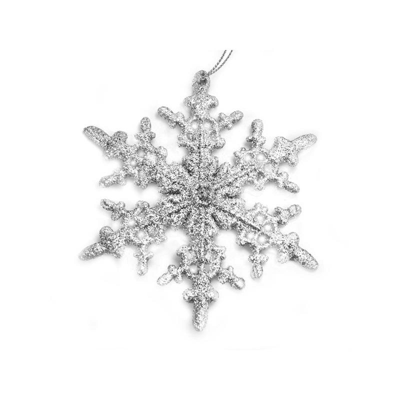 {} Подвеска декоративная Снежинка (12 см) подвеска декоративная снежинка ажурная пвх 61 см