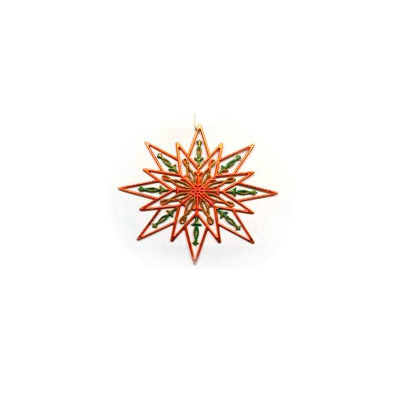 {} Подвеска декоративная Снежинка Цвет: Разноцветные блестки (24 см) подвеска декоративная снежинка ажурная пвх 61 см