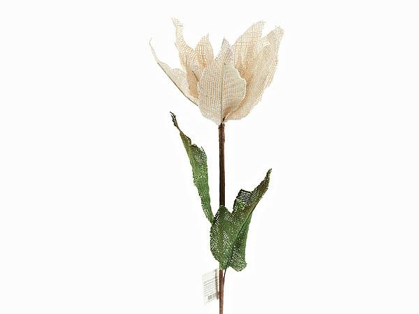 {} ArtHouse Цветок декоративный Пуансетия Цвет: Белый (92 см) arthouse статуэтка балет 7х7х23 см
