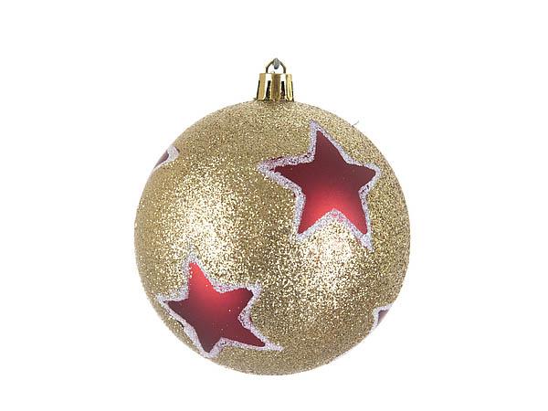 {} Monte Christmas Сувенир Красные Звезды (8 см - 6 шт)