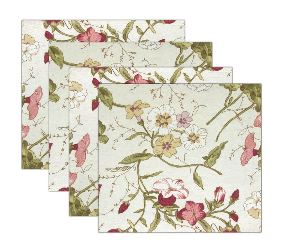 где купить Скатерти и салфетки Kauffort Салфетки Narciso Цвет: Розовый (32х32 см - 4 шт) по лучшей цене