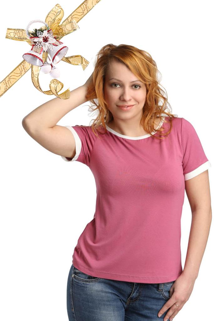 Футболки ElenaTex Блузка Gloria Цвет: Темно-Чайная Роза (M-L) футболки elenatex блузка corona цвет темно чайная роза xl