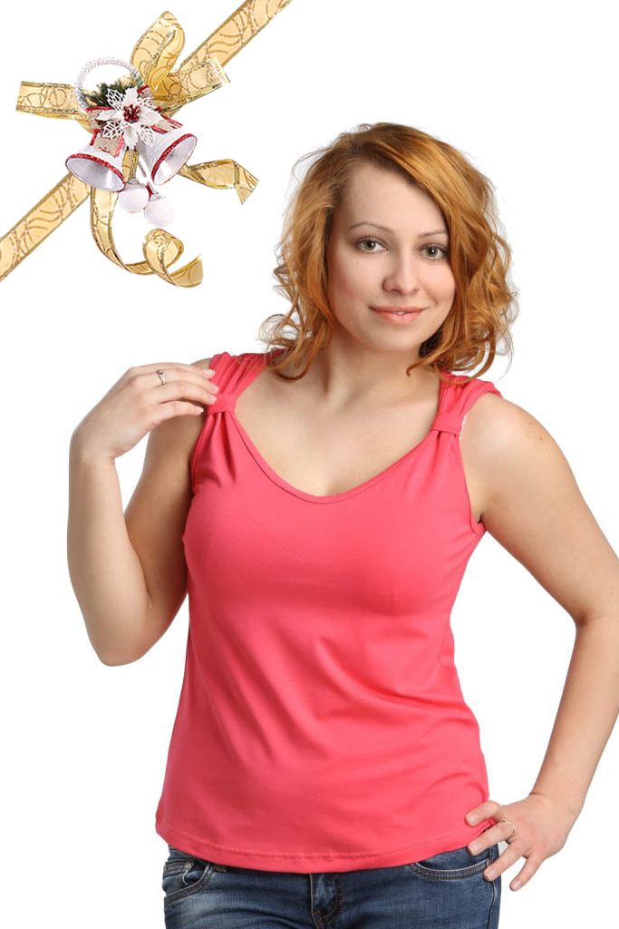 Футболки ElenaTex Блузка Corona Цвет: Коралл (M-L) футболки elenatex блузка corona цвет малина l