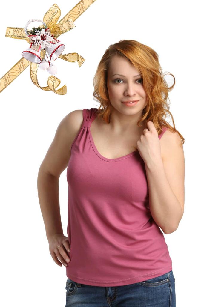 Футболки ElenaTex Блузка Corona Цвет: Темно-Чайная Роза (L) футболки elenatex блузка corona цвет малина l