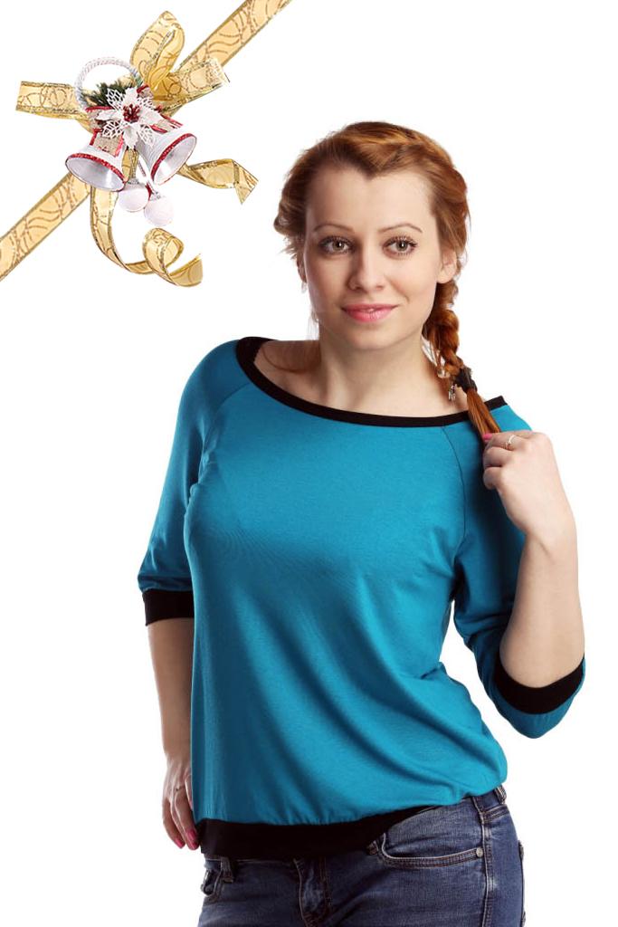 Футболки ElenaTex Блузка Life Цвет: Изумруд (M) россия блузка dg 28 bra