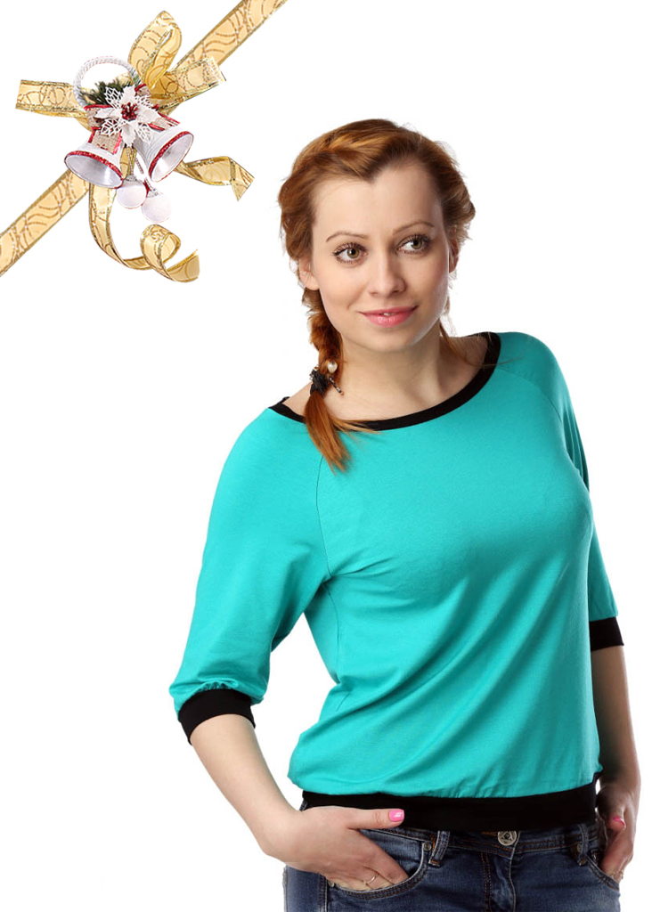 Футболки ElenaTex Блузка Life Цвет: Зеленый (L) россия блузка dg 28 bra