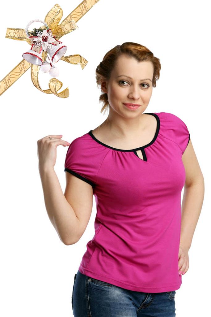 Футболки ElenaTex Блузка Rosa Цвет: Темно-Лиловый (M-L)
