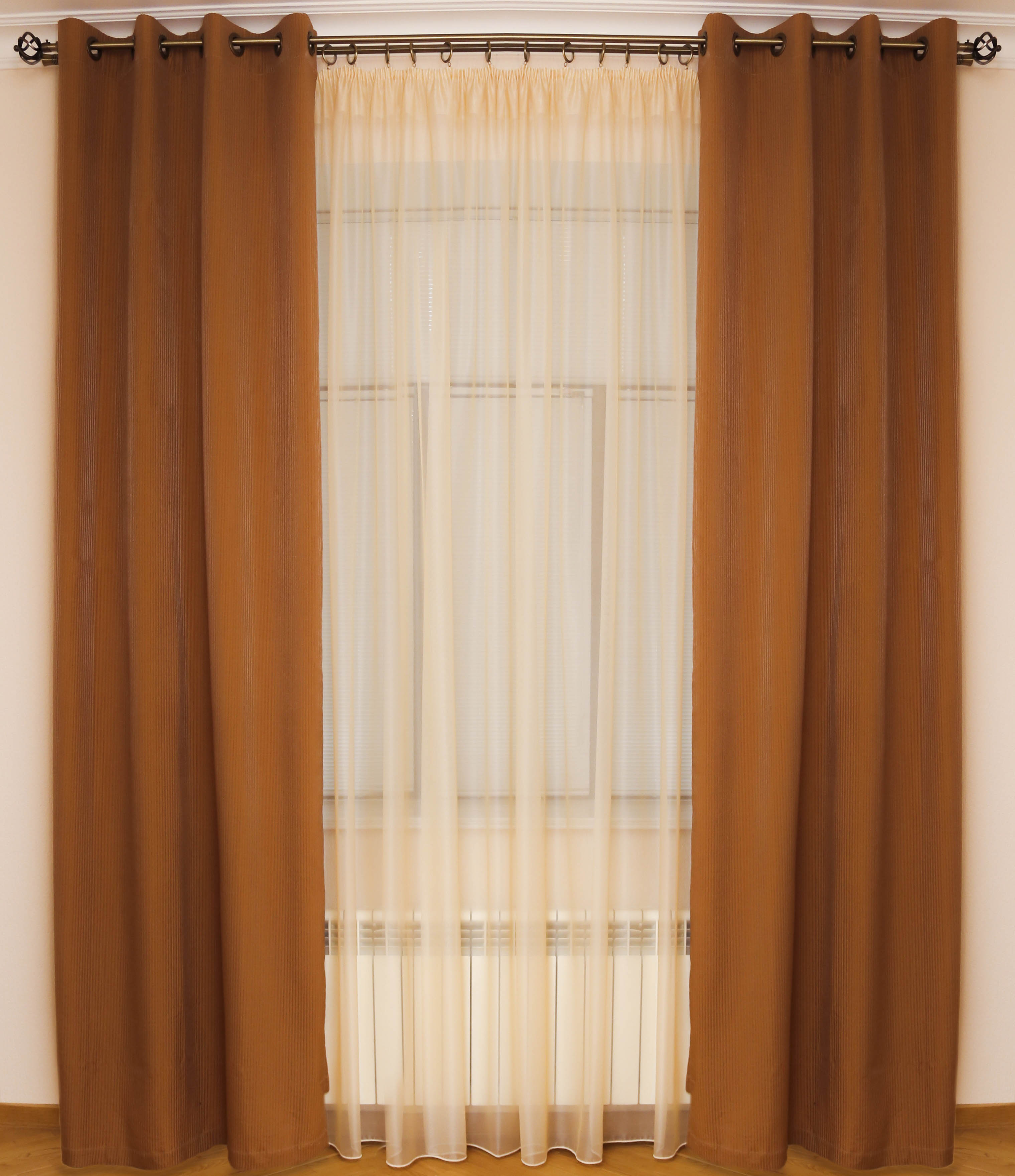 Шторы Interiotex Классические шторы Нина Цвет: Кофе