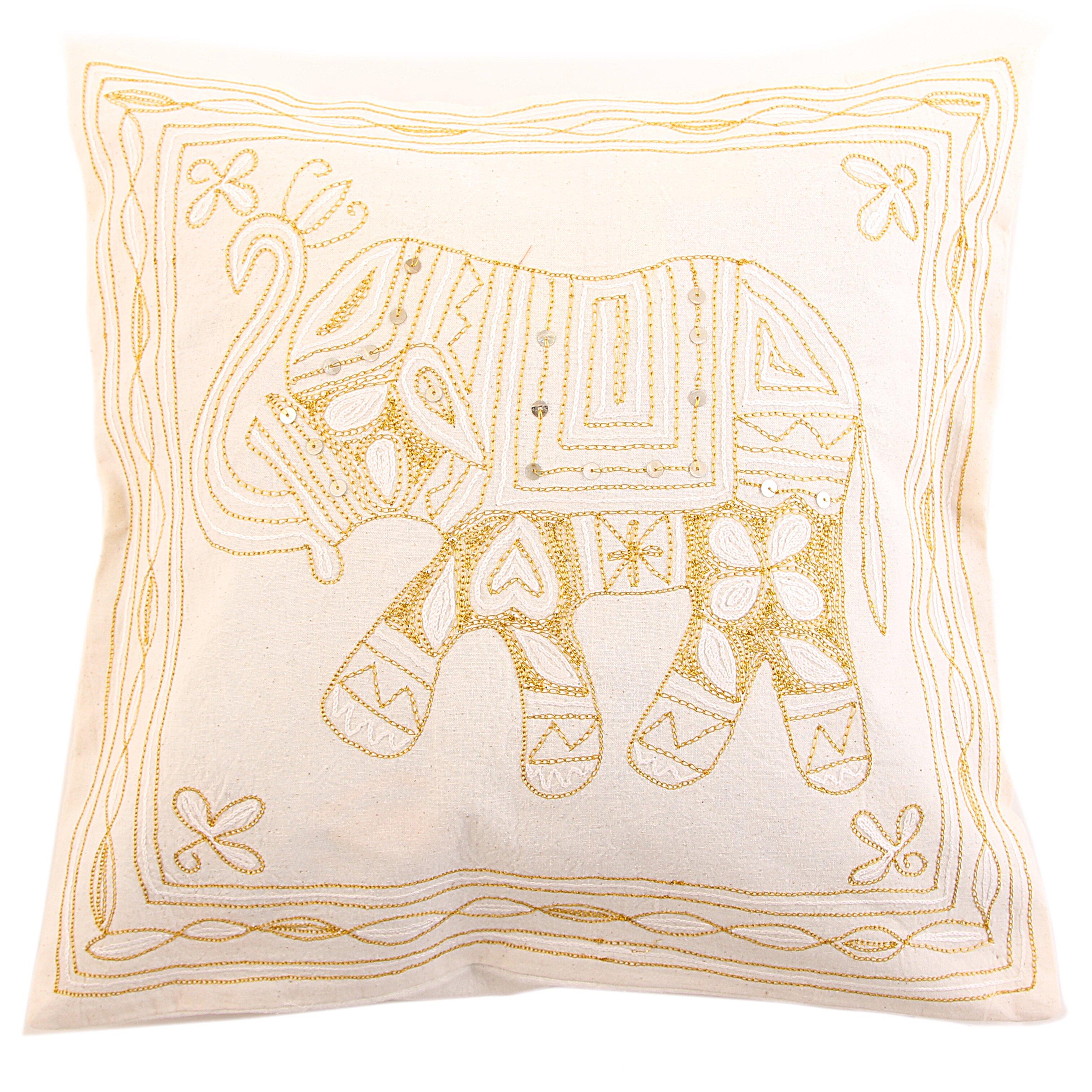 Декоративные подушки Ганг Декоративная наволочка Слон Цвет: Белый (40х40) ганг статуэтка слон 3х5х7 см