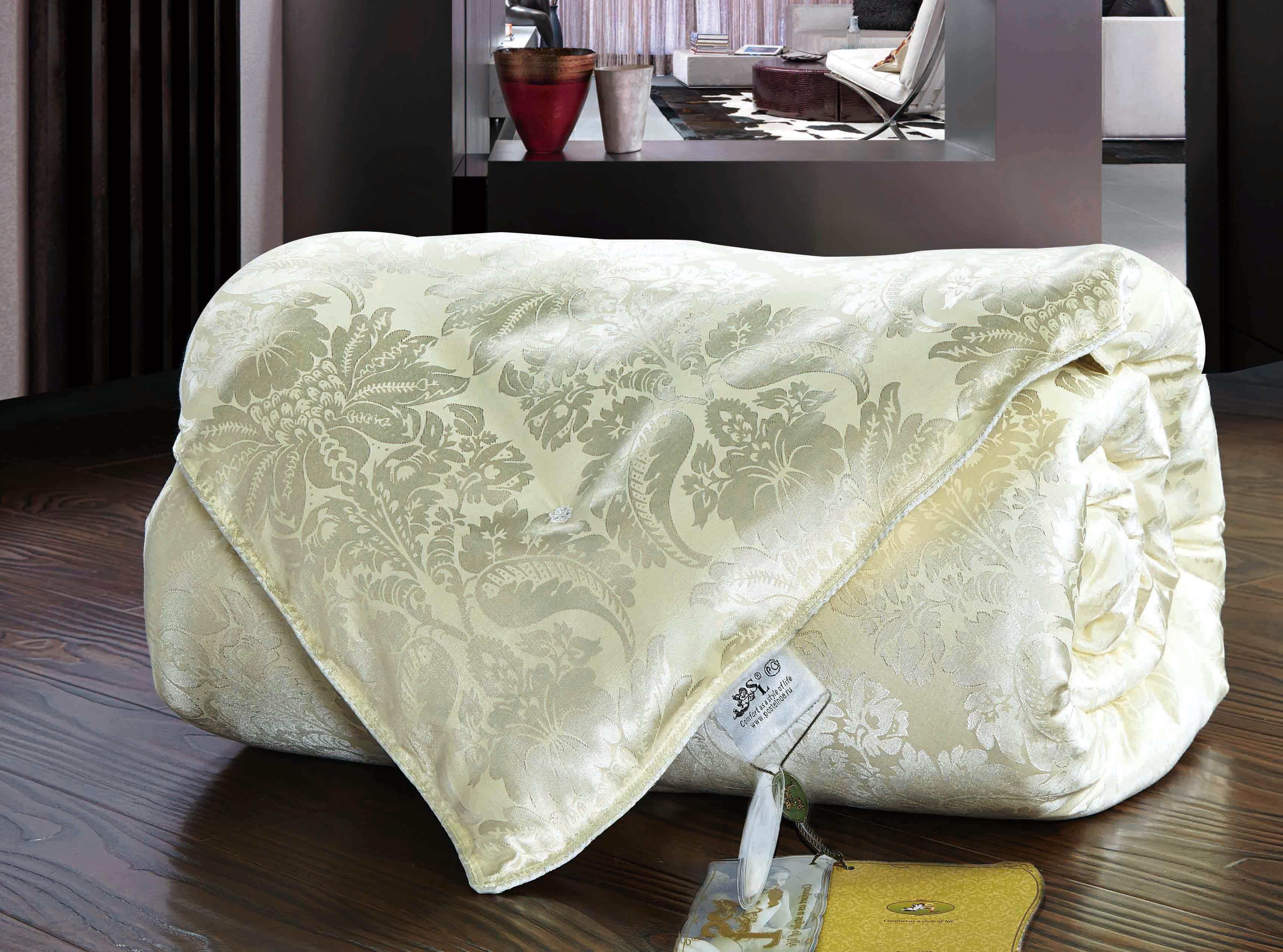 Одеяла SL Одеяло Шелк Всесезонное Цвет: Бежевый (140х205 см) одеяло лэмби цвет бежевый 140 х 205 см