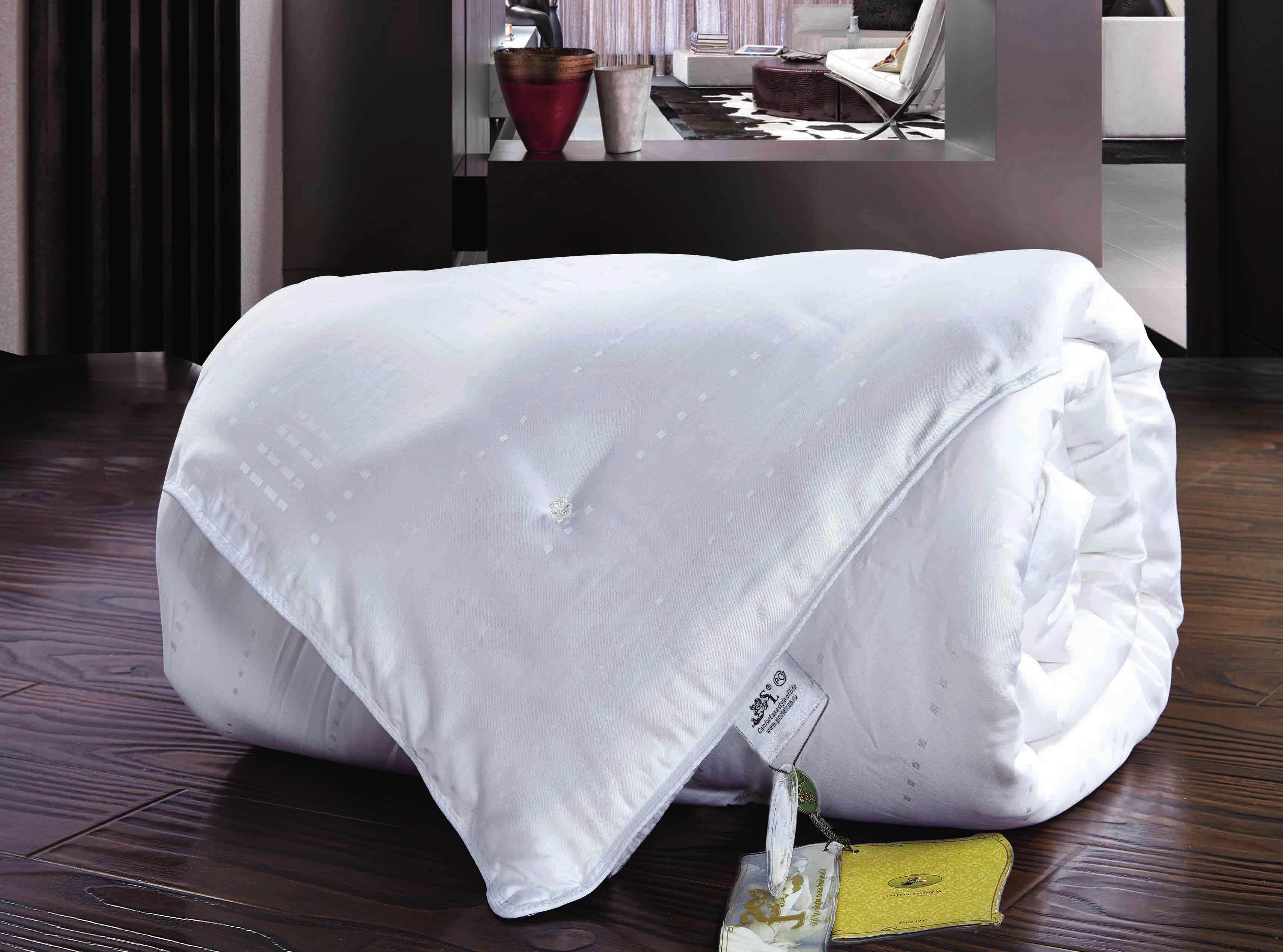 Одеяла SL Одеяло Шелк Всесезонное Цвет: Белый (140х205 см) павлово посадский шелк
