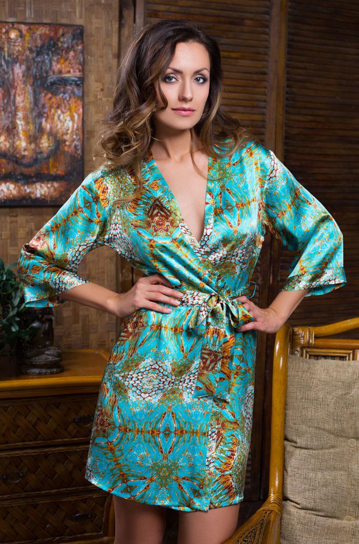 Домашние халаты Mia-Mia Домашний халат Adriana (M) павлово посадский шелк