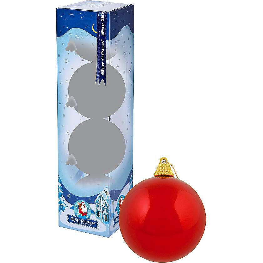 {} Набор шаров Christmas Time Цвет: Красный глянцевый (6 см - 4 шт) набор шаров 6 см monte christmas набор шаров 6 см