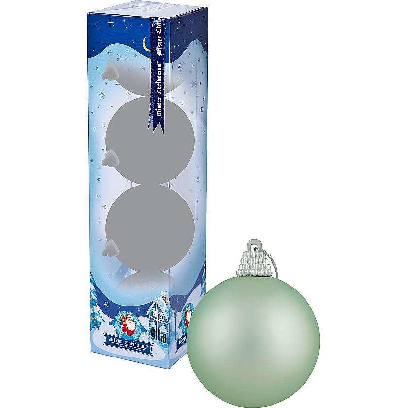 {}  Набор шаров Christmas Time Цвет: Светло-Голубой матовый (7 см - 4 шт)
