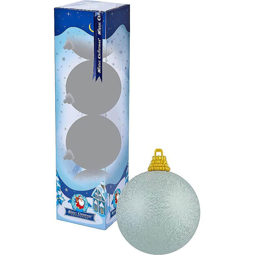 {}  Набор шаров Christmas Time Цвет: Светло-Голубой текстурный (7 см - 4 шт)