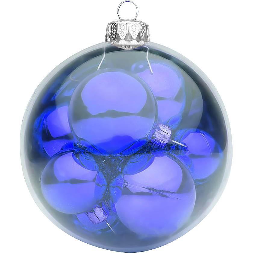 {}  Набор шаров Christmas Time Цвет: Синий набор шаров 60мм 9шт пластик в тубе золото
