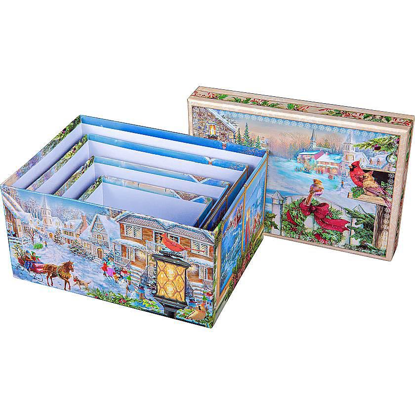 {} Подарочная коробка Christmas Time (20х14х10 см) коробка подарочная бабочки 14 14 8 5см картон хансибэг