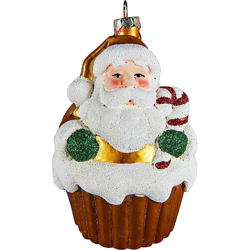 {} Елочное украшение Дед Мороз Цвет: Желтый (11 см)