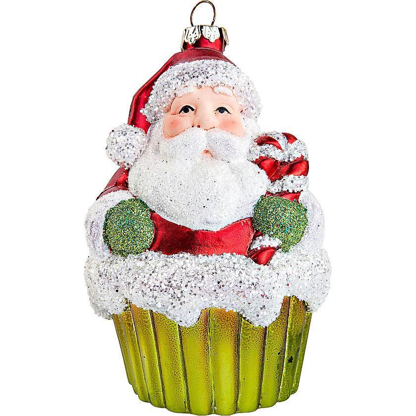 {}  Елочное украшение Дед Мороз Цвет: Красный (11 см) фигурки sweet home ёлочное украшение дед мороз