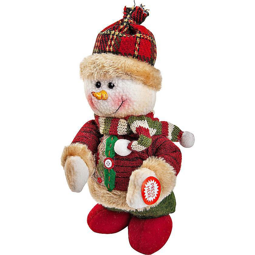 {}  Электромеханическая игрушка Снеговик (20 см) мягкая игрушка арти м 29 см снеговик 861 002