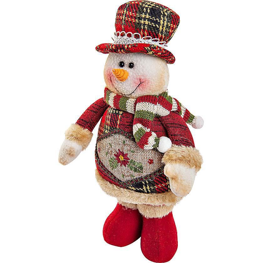 {}  Мягкая игрушка Снеговик (28 см) мягкая игрушка plush apple собака с шарфом 28 см