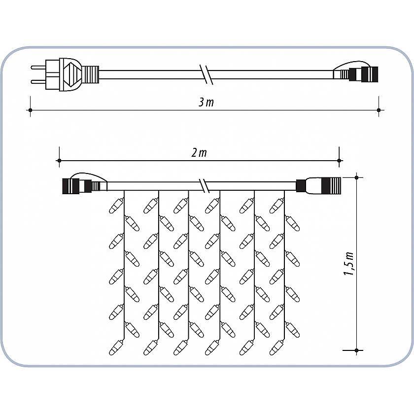 {}  Светодиодная гирлянда Дождь гирлянда электрическая lunten ranta сосулька 20 светодиодов длина 2 85 м