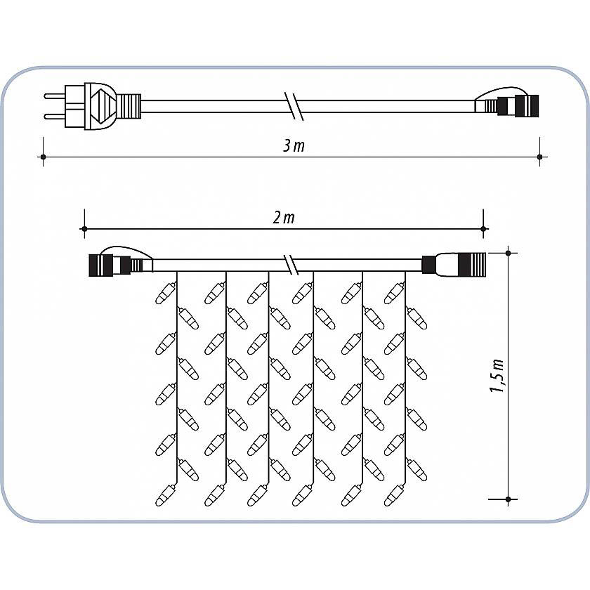{}  Светодиодная гирлянда Дождь Цвет: Белый гирлянда электрическая lunten ranta сосулька 20 светодиодов длина 2 85 м