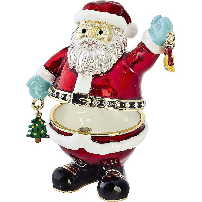 {}  Шкатулка Дед Мороз (8 см) шкатулка декоративная свадебный торт 10 5 8 6 см металл