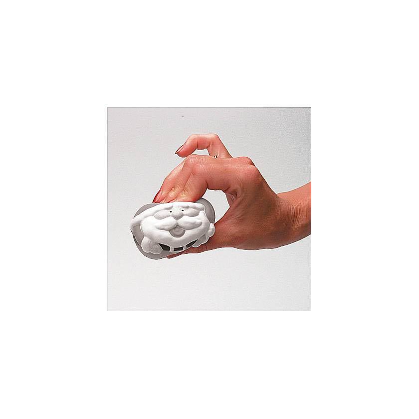 {}  Игрушка-антистресс Дед Мороз Цвет: Cеребряный (7 см) 1toy игрушка антистресс ё ёжик животное цвет бежевый