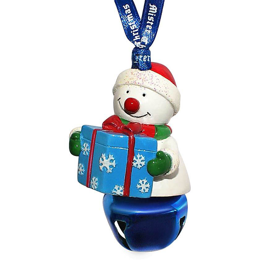 {} Колокольчик Снеговик С Подарком Цвет: Синий (6 см) миниатюра колокольчик цвет серебристый 6 см