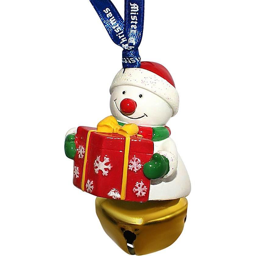 {} Колокольчик Снеговик С Подарком Цвет: Золотой (6 см) миниатюра колокольчик цвет серебристый 6 см