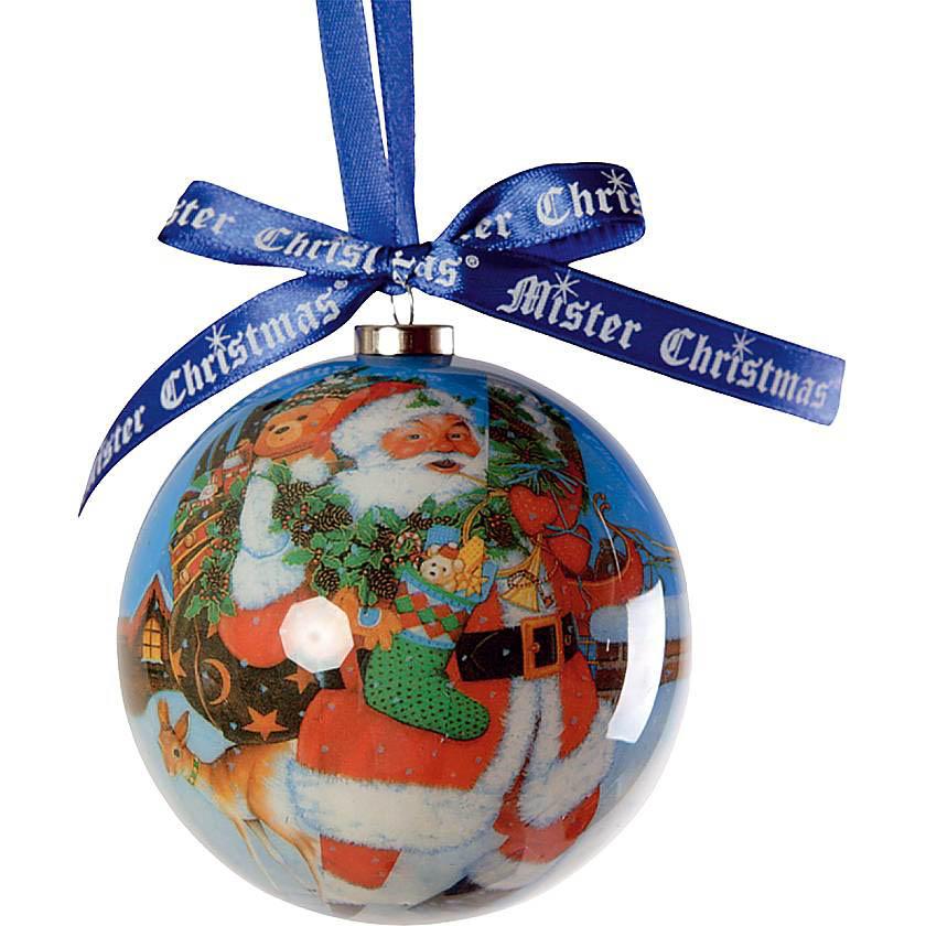{} Набор шаров Санта (7 см - 4 шт) набор розеток 4 шт 7 5 см под уп 1227427