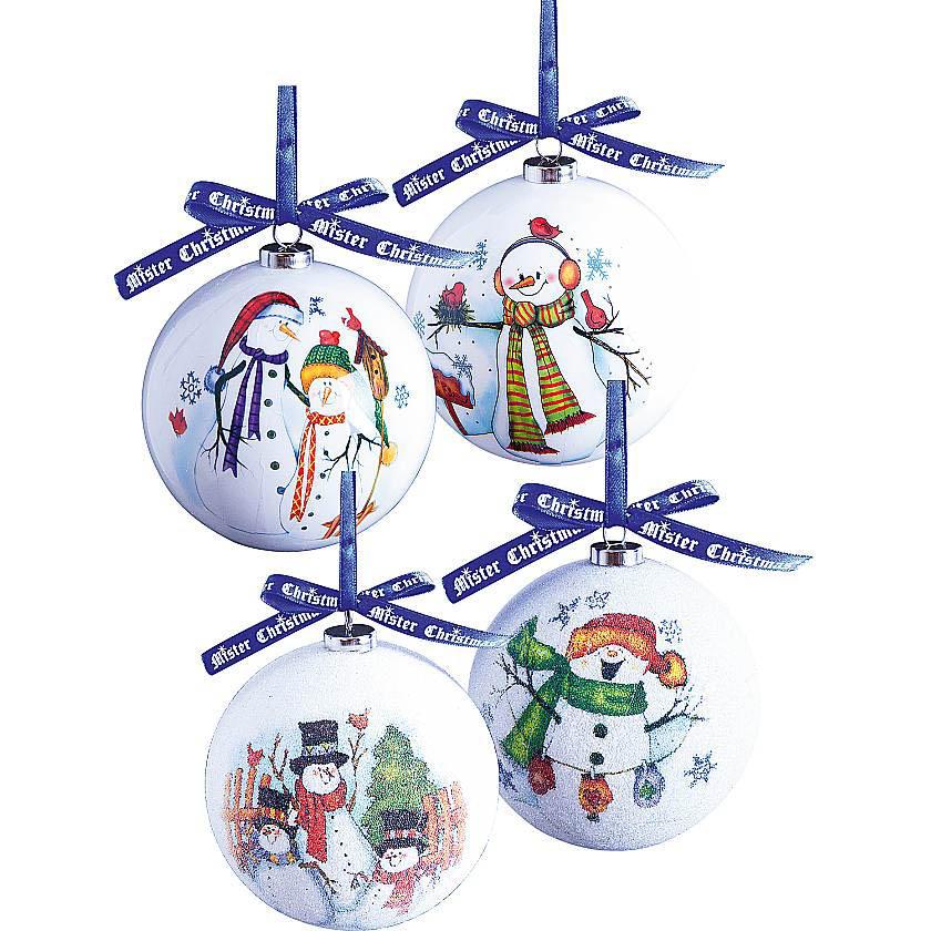 {} Набор шаров Снеговичок (7 см - 6 шт) набор шаров 6 см monte christmas набор шаров 6 см