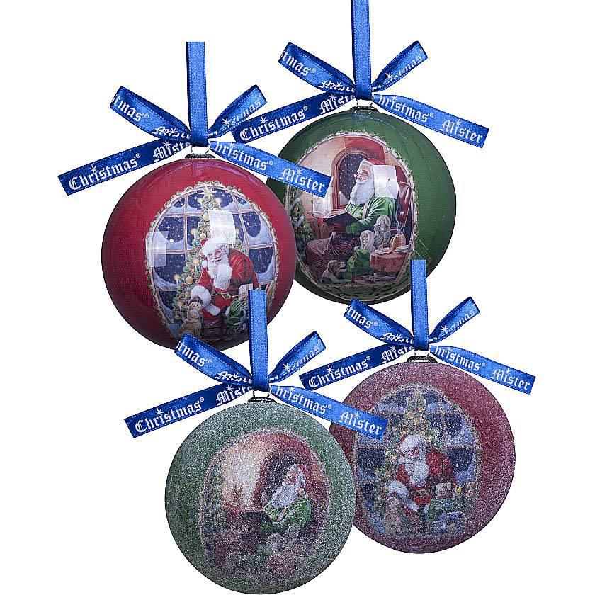{} Набор шаров Подарки (7 см - 6 шт) набор шаров 6 см monte christmas набор шаров 6 см