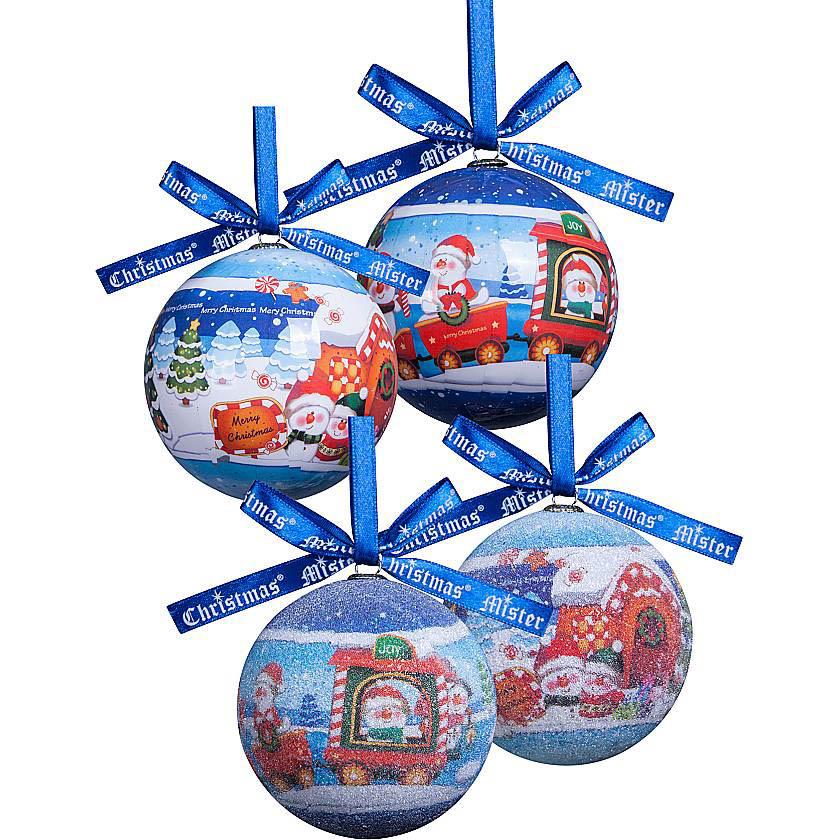 {} Набор шаров Снеговички (7 см - 6 шт) набор шаров 6 см monte christmas набор шаров 6 см
